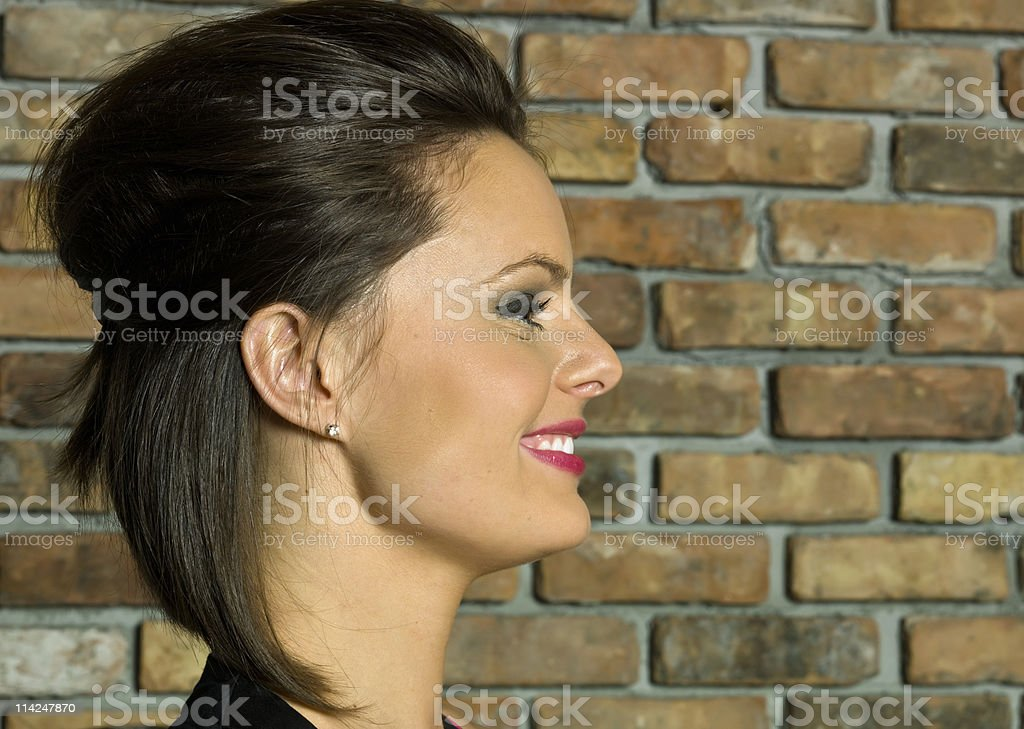 stunning profile royalty-free stock photo