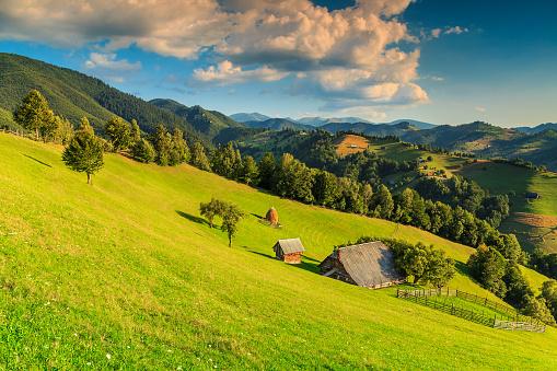 Stunning Rural Landscape Near Brantransylvaniaromaniaeurope Stock Photo - Download Image Now