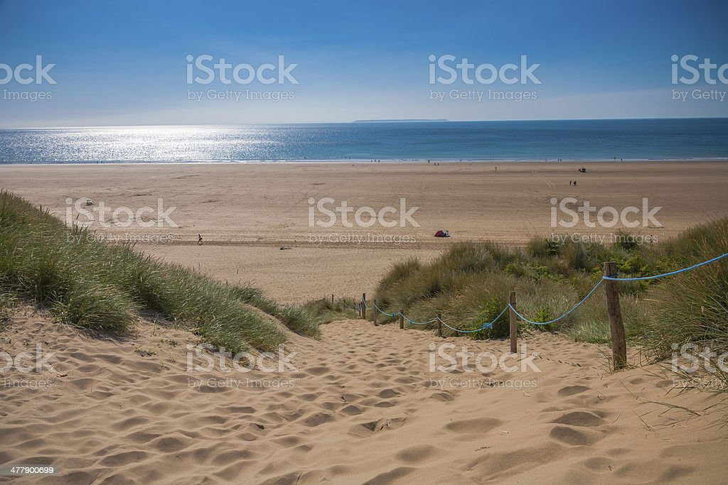 Stunning Sand Dunes of Devon stock photo