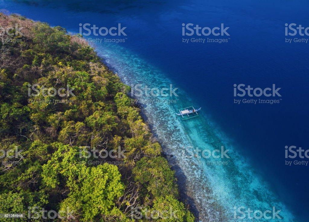 Stunning sea color stock photo