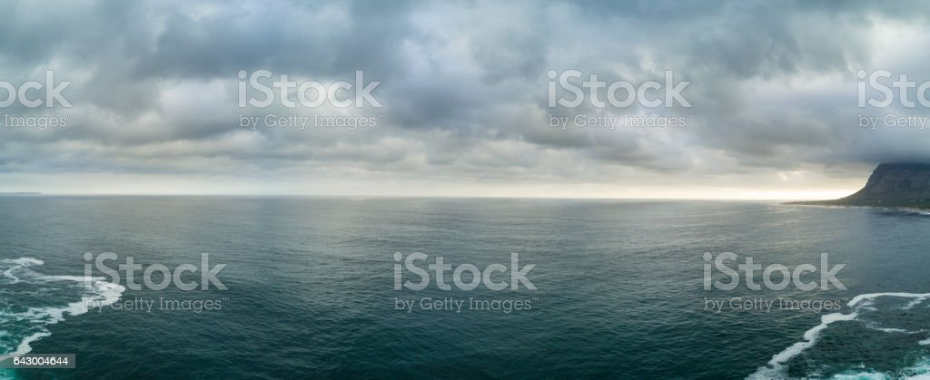 Stunning sea landscape at sunset stock photo