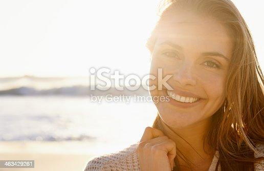 istock Stunning smile at sunset 463429261
