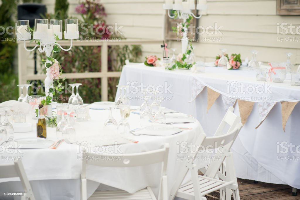 A Stunning Summer Wedding Reception Stock Photo More Pictures Of