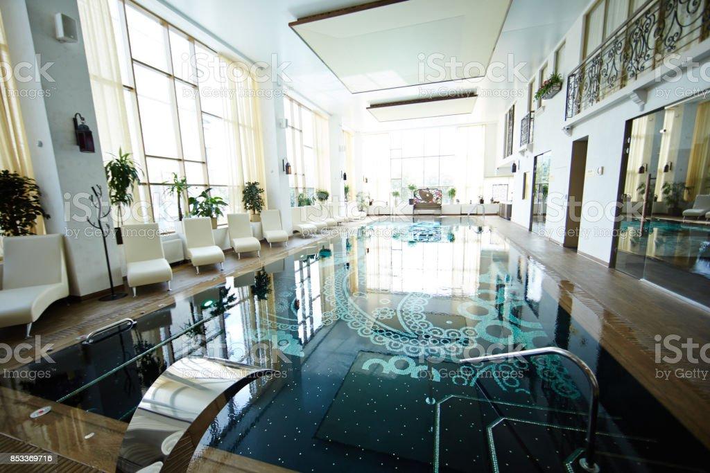 Stunning Swimming Pool Interior stock photo