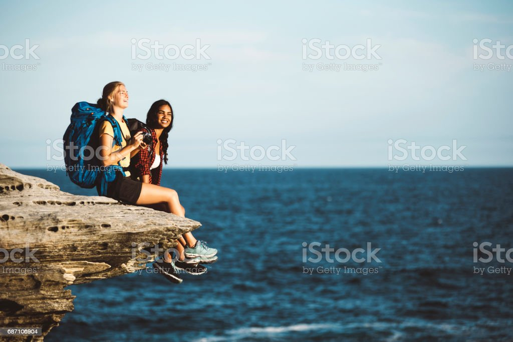 Atemberaubende Aussicht und cliff Lizenzfreies stock-foto