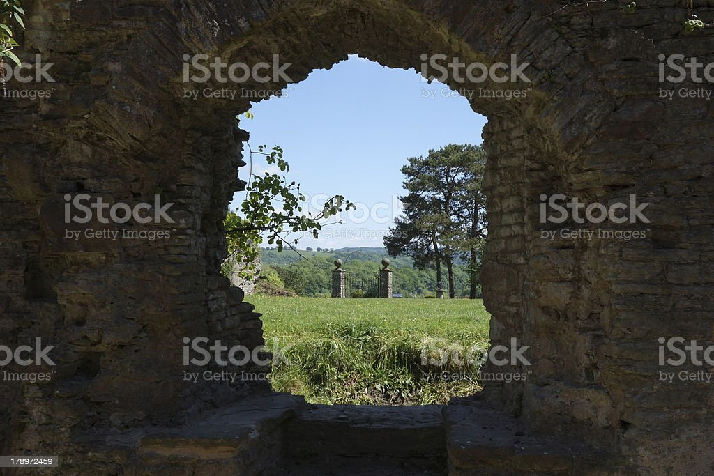 stunning view from a ruined castle stock photo