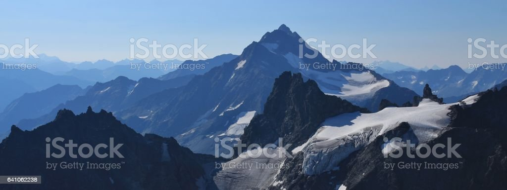 Stunning view from mount Titlis stock photo