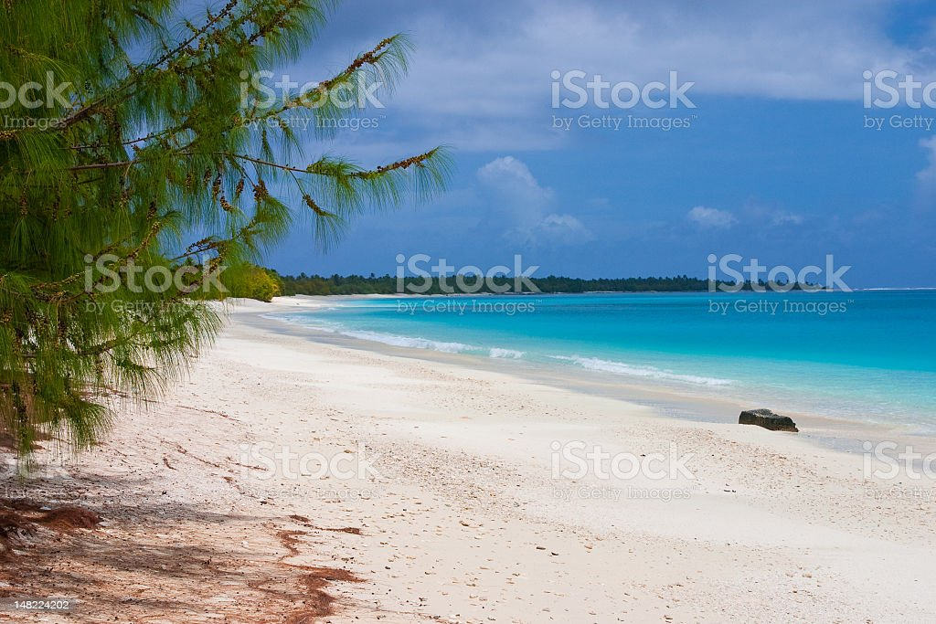 A stunning view of Bikini Atoll Lagoon  stock photo