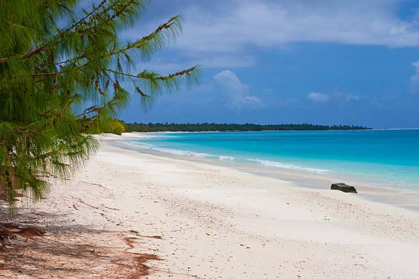A stunning view of Bikini Atoll Lagoon  stock photo
