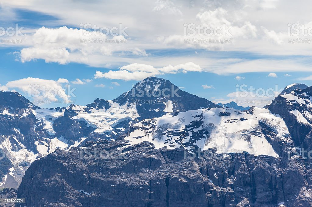 Stunning view of Breithorn from Schilthorn stock photo