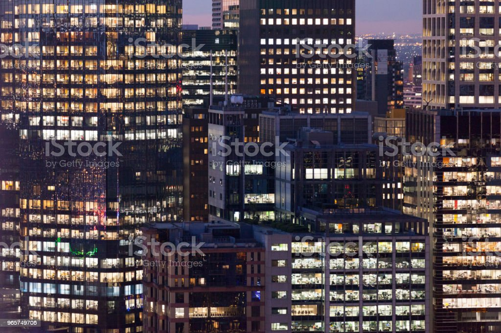 Prachtig uitzicht over de stad gebouwen - Royalty-free Architectuur Stockfoto