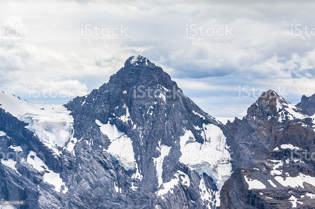 Stunning view of Gspalthorn from Schilthorn stock photo