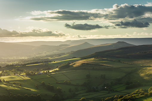 Stunning View Of Hope Valley From Stanage Edge Stock Photo - Download Image Now