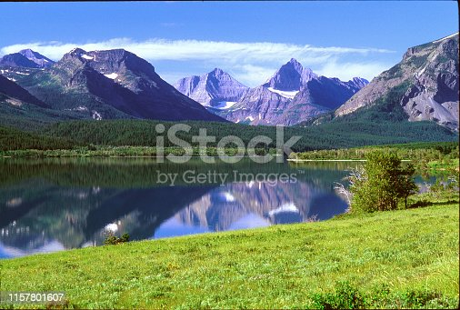 St Mary Lake at Glacier National Park in Montana, USA