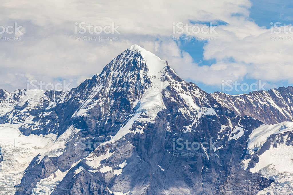 Stunning view of Monch from Schilthorn stock photo