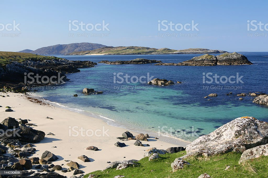 A stunning view of the Hebridean Coast  royalty-free stock photo