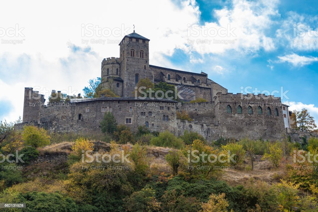 Stunning view of the Valere Basilica in Sion royalty-free stock photo