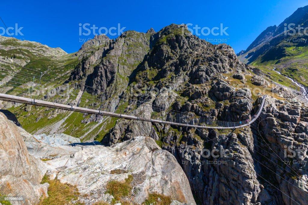 Stunning view of Trift bridge stock photo