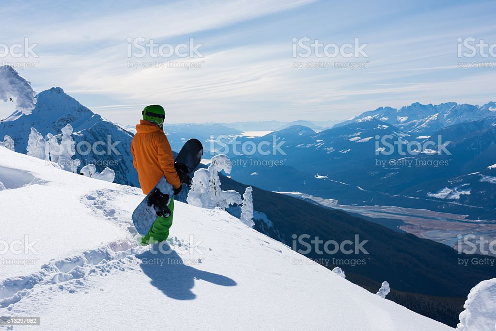 Stunning views at Revelstoke Mountain Resort stock photo