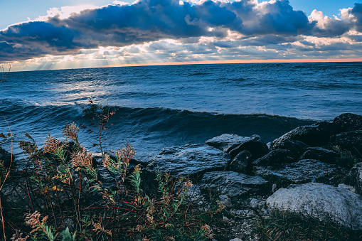 854222674 istock photo Stunning views of Lake Erie: Port Stanley Ontario Canada: 1047549644