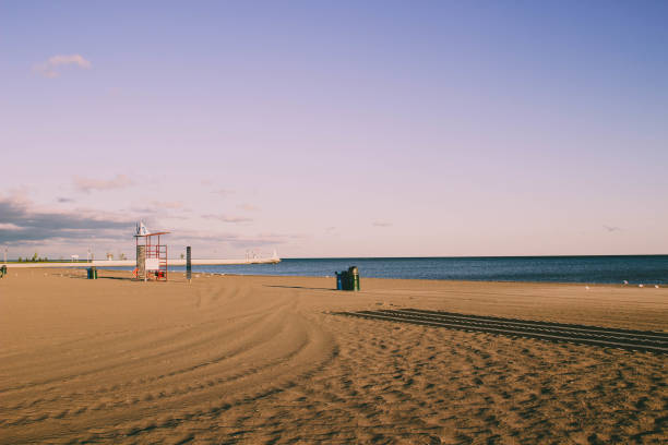 Stunning views of Lake Erie: Port Stanley Ontario Canada: stock photo