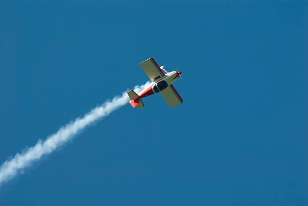 Stunt airplane stock photo