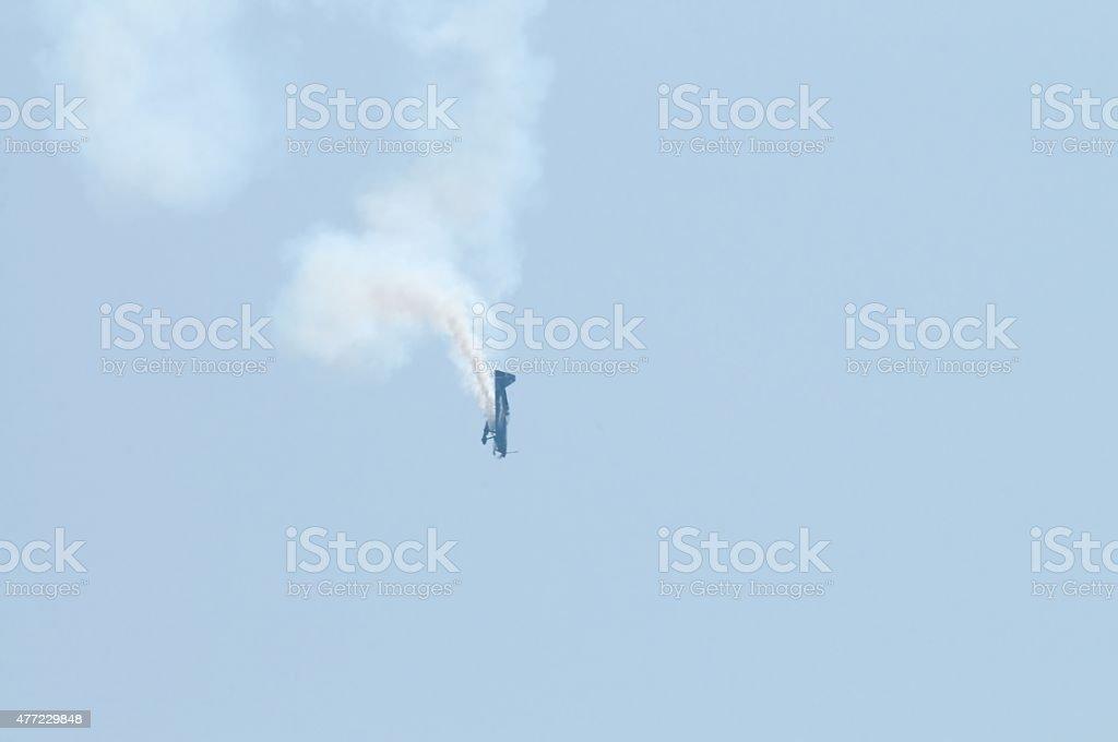 Stunt Plane Nosedive At Ocean City stock photo