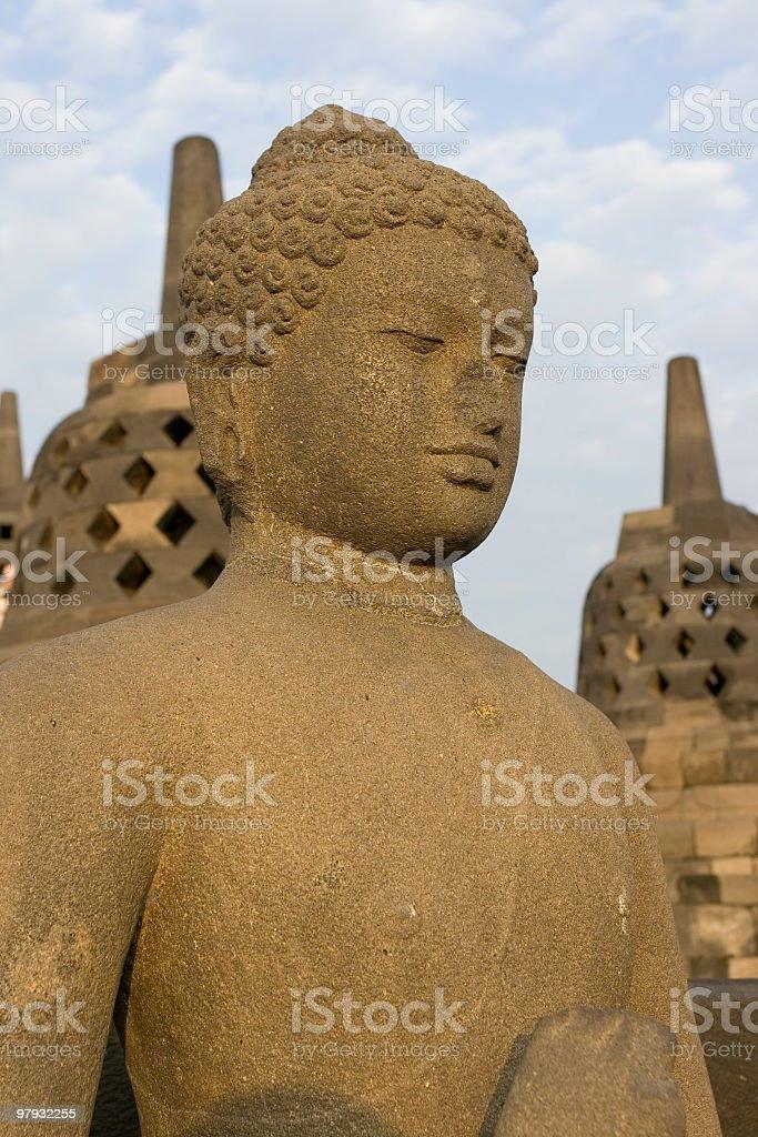 Stupa at Hindu temple royalty-free stock photo