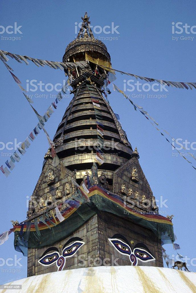 Stupa at Swayambhunath Temple, Kathmandu royalty-free stock photo