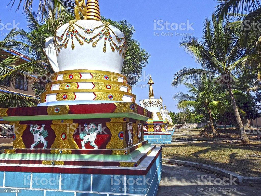 Stupa in Sera Jey Monastery stock photo