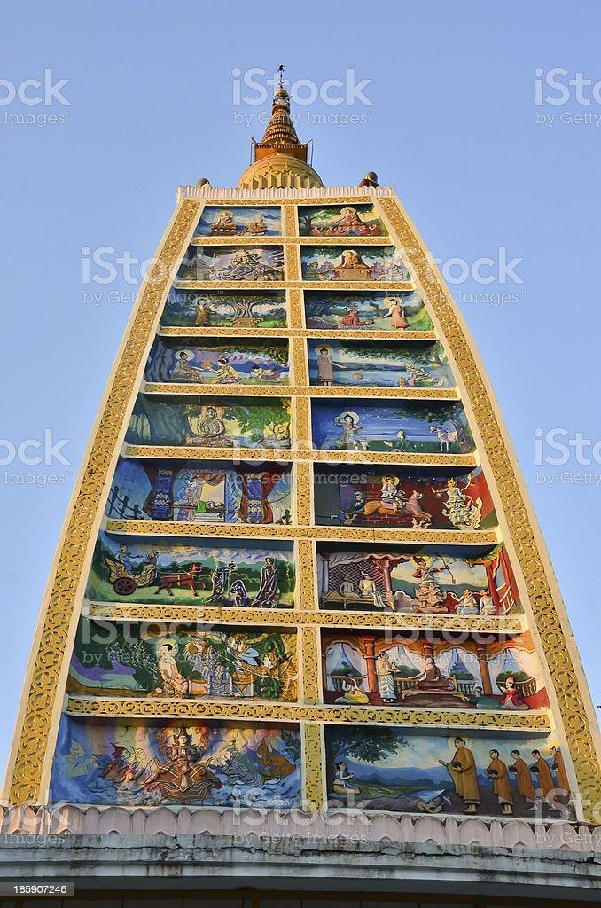 Stupa jataka tales royalty-free stock photo