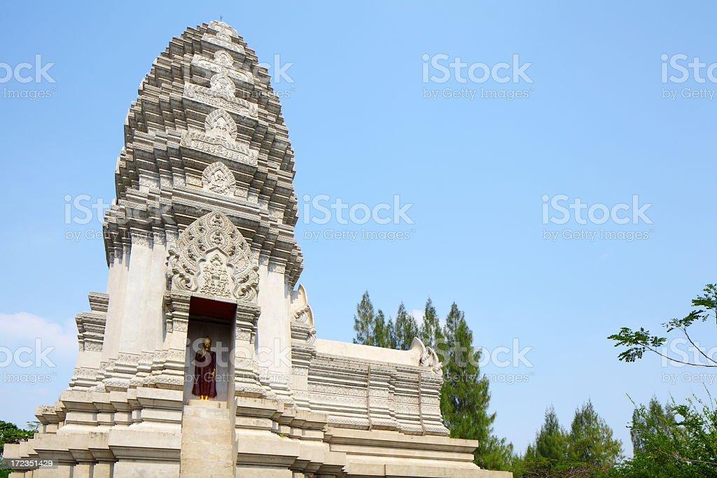 Estupa de Phra Mahathat, Ratchaburi foto de stock libre de derechos