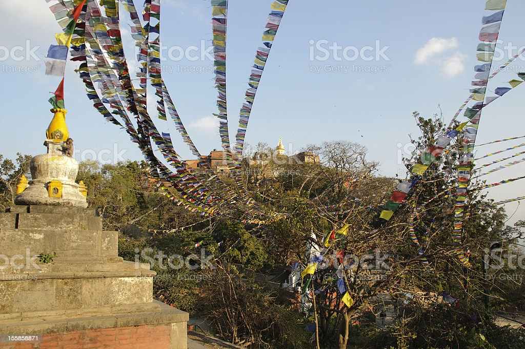 Stupa Swayambhunath ,Kathmandu royalty-free stock photo