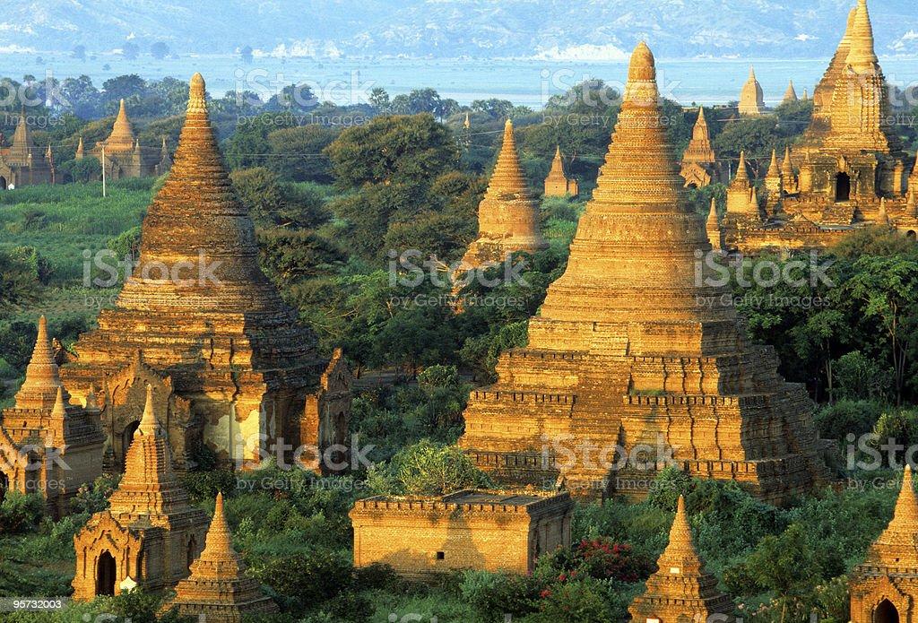 Stupas and Payas, Bagan, Myanmar stock photo
