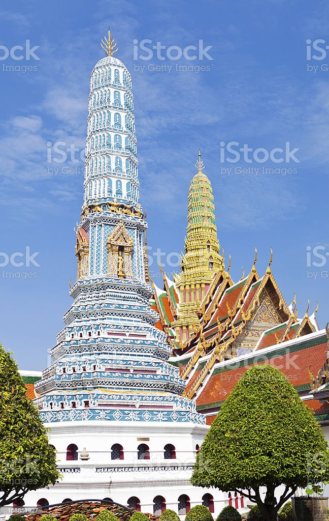 Stupas From The Grand Palace royalty-free stock photo