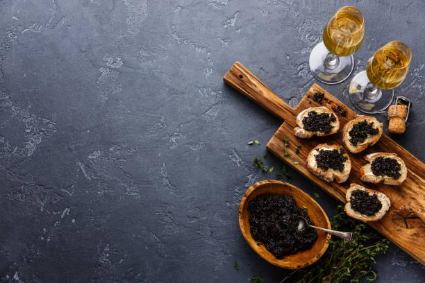 sturgeon black caviar - caviar fotografías e imágenes de stock