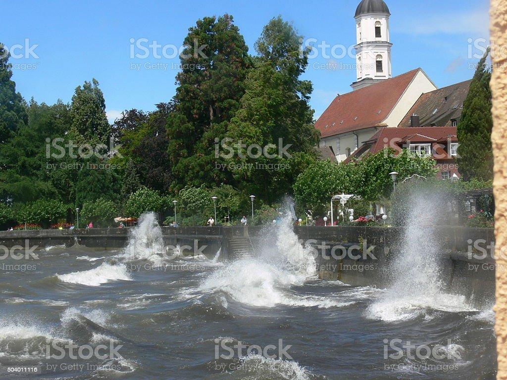 Sturm am Bodensee stock photo