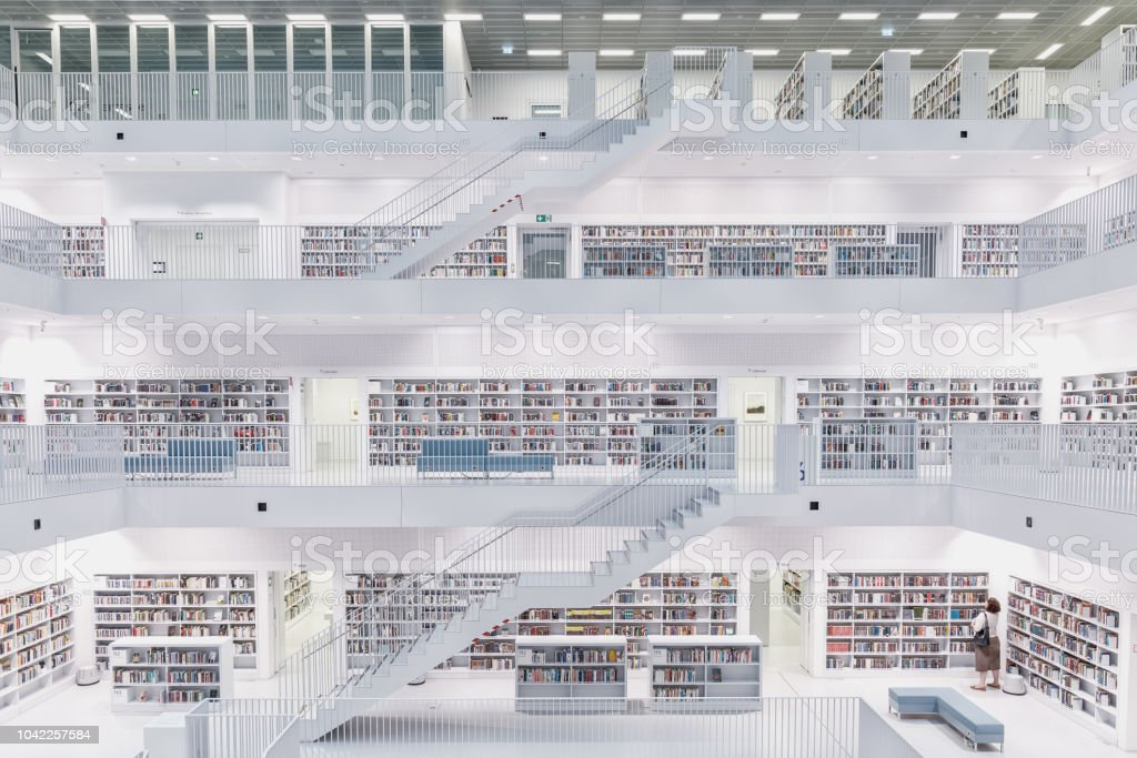 Stuttgart City Library - Royalty-free Architecture Stock Photo