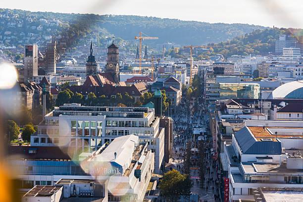Stuttgart Germany City Center Koenigstrasse Public Otudoors Bahn – Foto