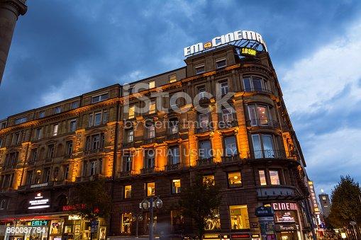 istock Stuttgart Koenigsstrasse Theater Night Time Long Exposure Tourist Afternoon Twilight October 9, 2017 860087784