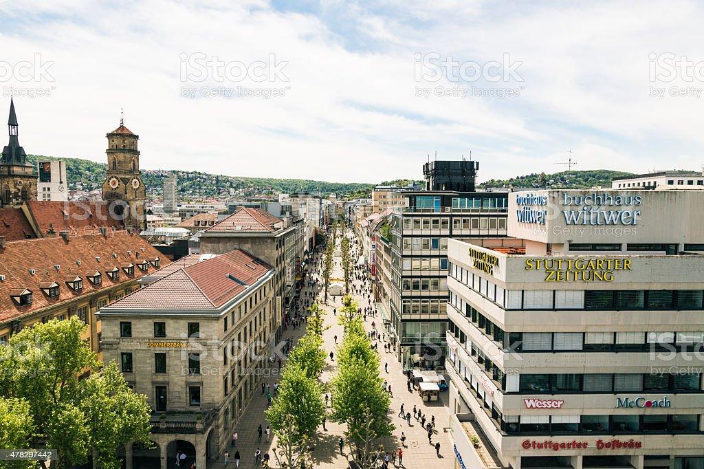 Stuttgart Koenigstrasse stock photo