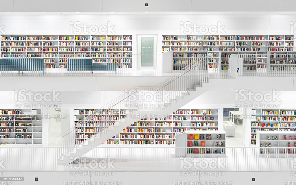 Stuttgart Library stock photo