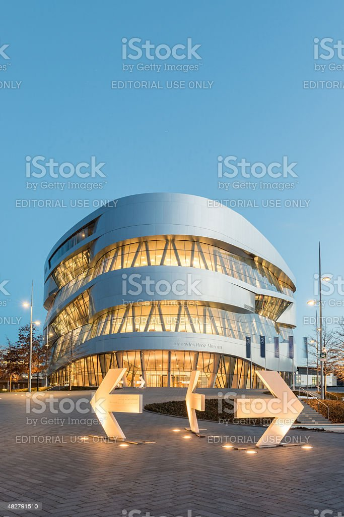 Stuttgart Mercedes Benz Museum stock photo