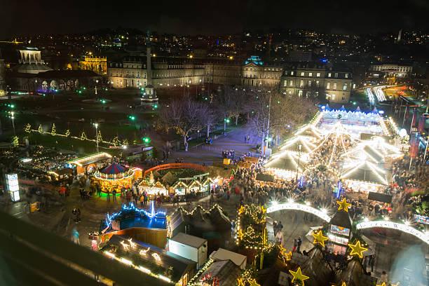 Stuttgart Weihnachtsmarkt Schlossplatz 2016 Christmas Market Nig – Foto