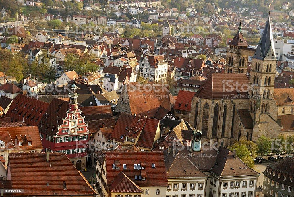 Stuttgart-Esslingen old town centre stock photo