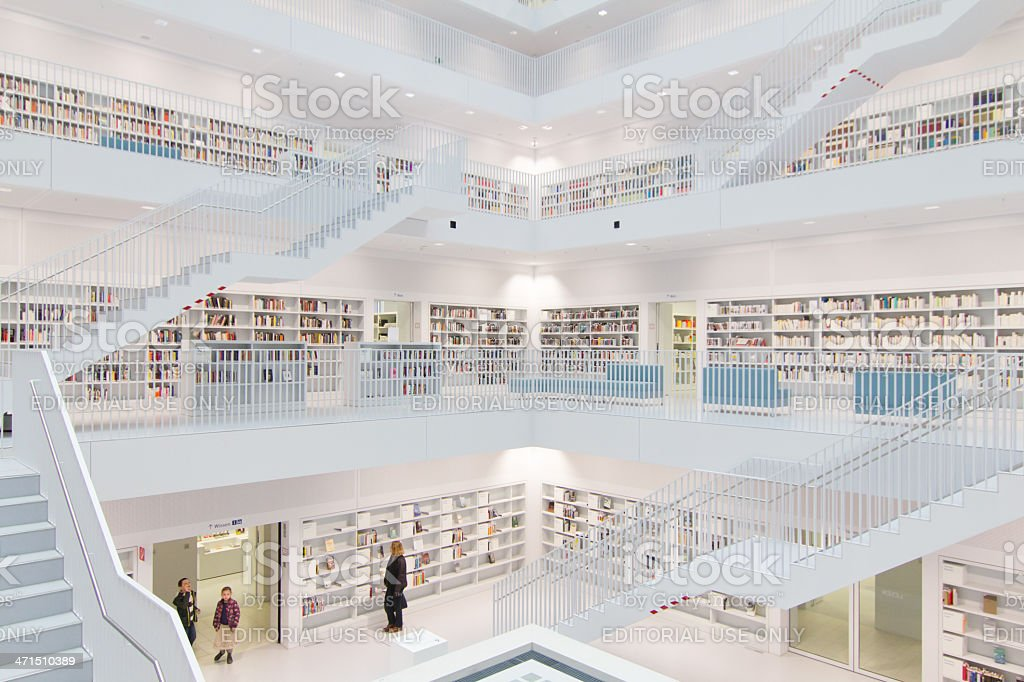 Stuttgarts library royalty-free stock photo