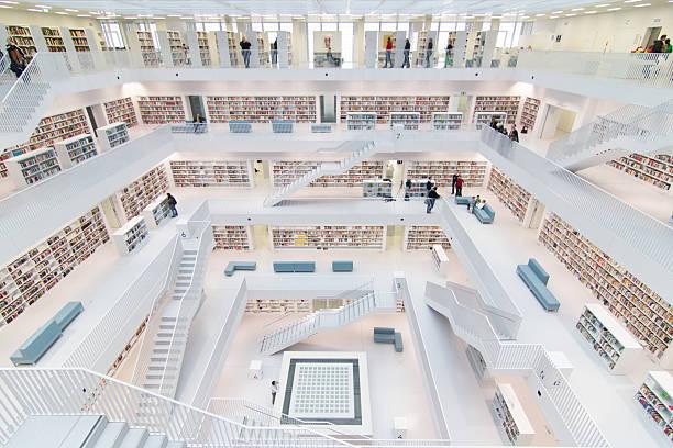 stuttgarts bibliothek - deutsche bibliothek stock-fotos und bilder