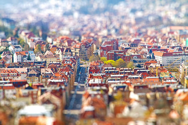 Stuttgat - Tilt shift Effect - foto stock