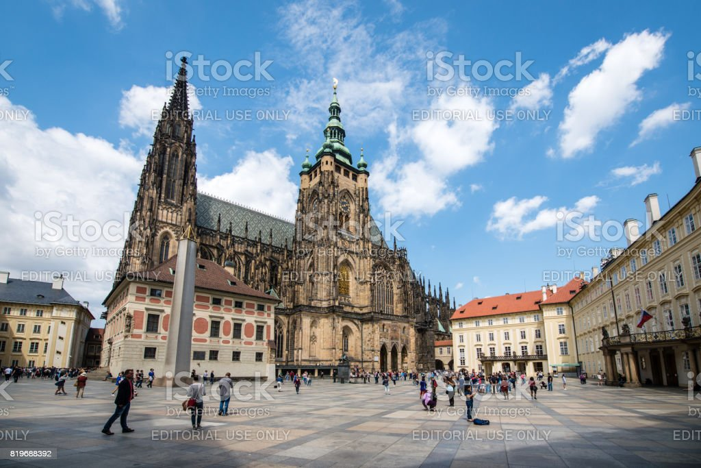 St.Vitus Cathedral in Prague, Czech Republic stock photo