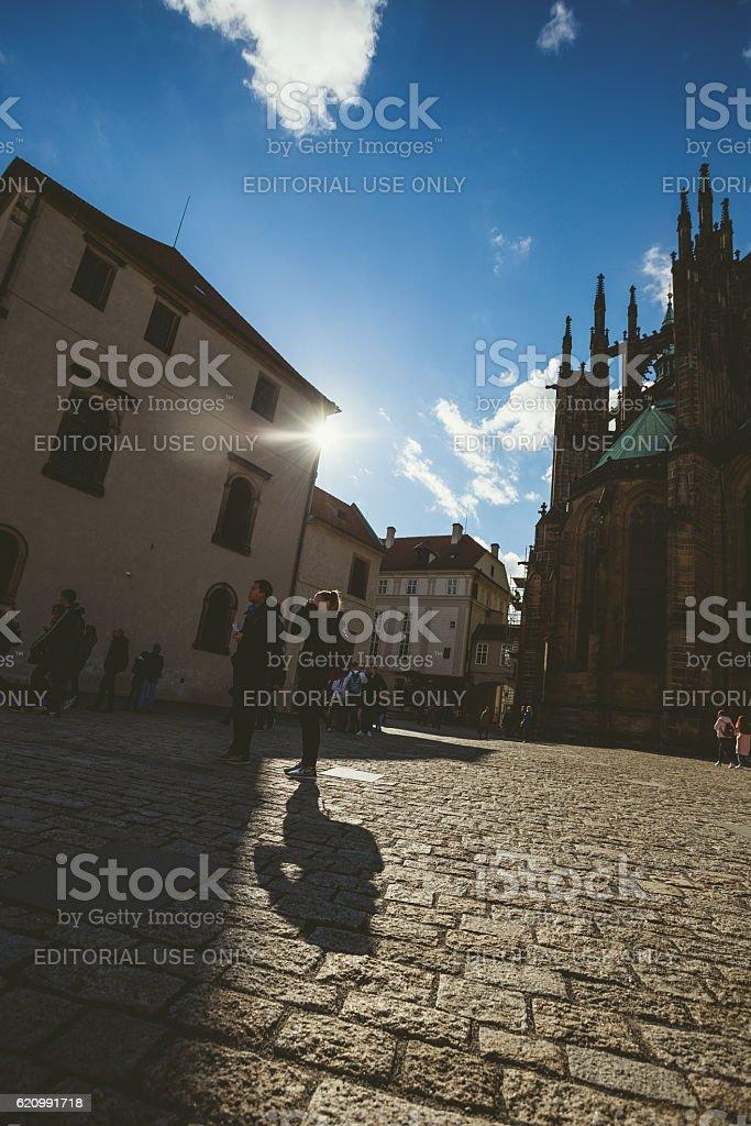 St.Vitus Catedral em Praga foto royalty-free